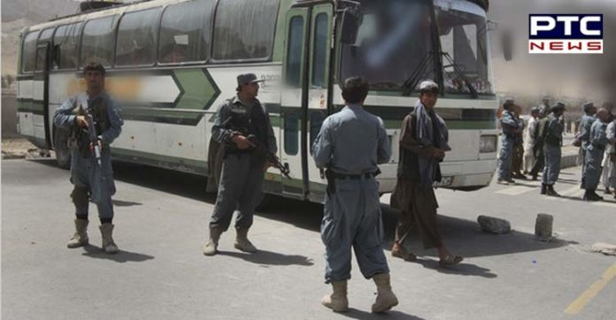 Afghanistan terrorists One tourist bus Stop 13 passengers Abduction