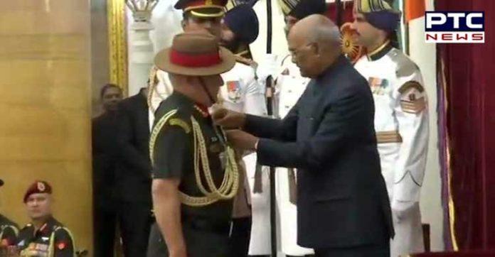 President Ramnath Kovind Army Chief Bipin Rawat Param Vishisht Seva Medal