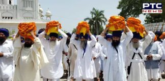 Damdami Taksal Giani Harnam Singh Khalsa Mother Kiratpur Sahib scattering of ashes
