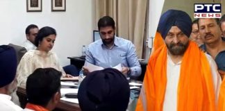 Maheshinder Grewal files nomination papers