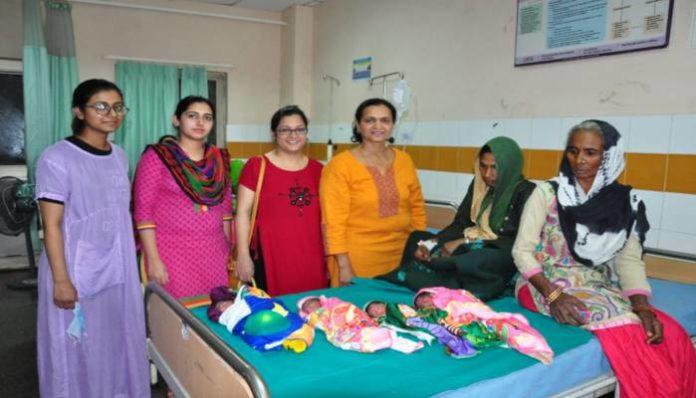 Panipat woman gives birth to 4 babies