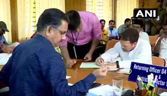 Rahul Gandhi files nomination from Wayanad; hits out at Modi