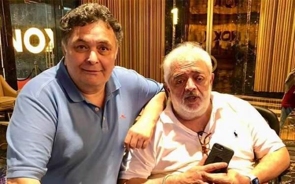Rishi Kapoor with Rahul Rawail