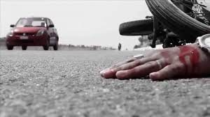 Moga - Ludhiana GT road Accident , Father death,son injured