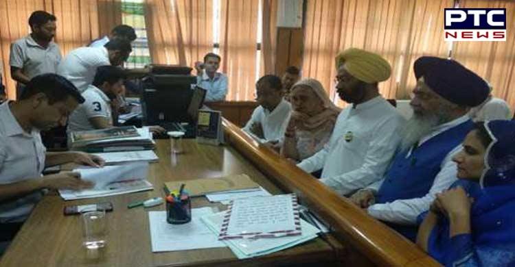Parminder Singh Dhindsa files nomination