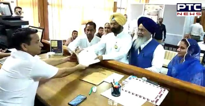 Parminder Singh Dhindsa files nomination from Sangrur parliamentary constituency