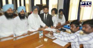 Parkash Singh Badal Harsimrat Kaur Badal covering candidate files nomination from Bathinda