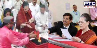 Sonia Gandhi files nomination