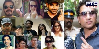Lok Sabha elections 2019: Bollywood Stars And Players casting vote polling booth Mumbai