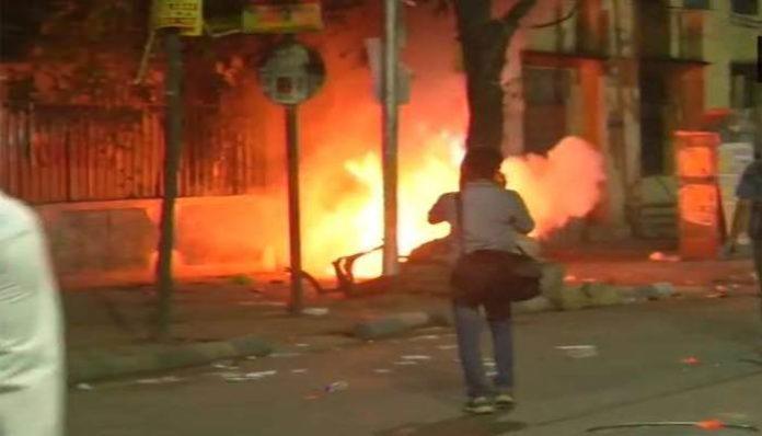 Amit Shah Road show violence 1