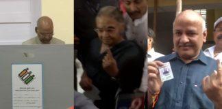 Delhi: President Ramnath Kovind ,Sheila Dikshit And Manish Sisodia vote at polling booth