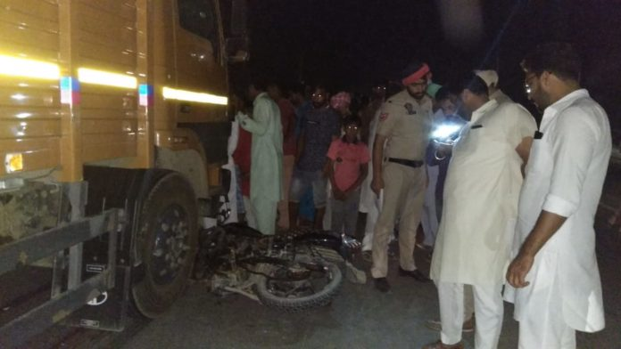 Bathinda Village mahuna Road Accident 2 young people Death