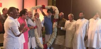 PS Badal & Sukhbir Badal among NDA leaders at Amit Shah's 'thanksgiving' dinner