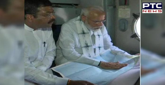 PM Modi conducts aerial survey