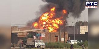 Ludhiana Dhandari Kalan Cardboard And Chemical Factory fire