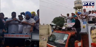 Patiala AAP Candidate Nina Mittal favor Arvind Kejriwal Road show