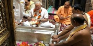 Modi in Varanasi for thanksgiving visit, offers prayers at Kashi Vishwanath temple