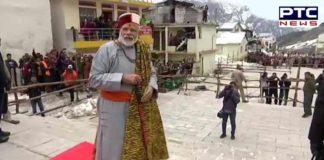 Prime Minister Narendra Modi at Kedarnath temple
