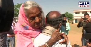 Jharkhand :105-year-old mother cast votes at polling booth number 450 in Hazaribagh