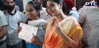 Sukhbir Badal daughter Harkirat Kaur Badal And Gurleen Kaur Badal Vote