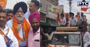 SAD-BJP candidate from Patiala Surjit Singh Rakhra Road show