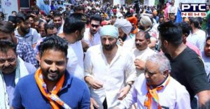 BJP candidate Sunny Deol Dera Baba Nanak to Gurdaspur road show