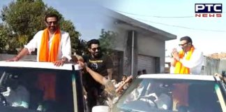 BJP candidate Sunny Deol Qadian constituency Road show