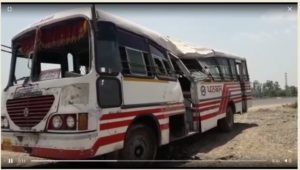 Nawanshahar-Phagwara highway Bus Accident ,15 passengers injured