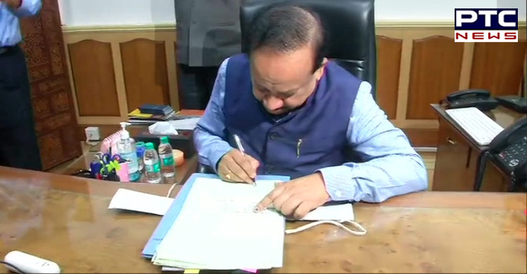 Dr Harsh Vardhan Cycles To Work On Day One As Health Minister