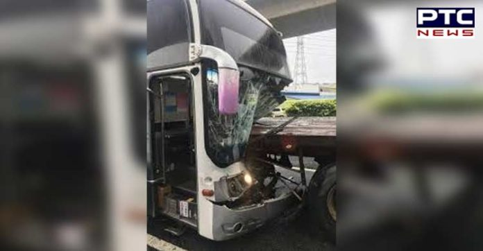 Turkey Bandirma district Bus crash , Four people killed and 42 injured