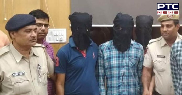 Rohtak police and Gangster between fight , 1 injured, 4 arrested