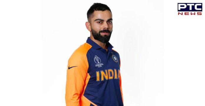 Virat Kohli ,Orange Jersey ,India vs England ,ICC Cricket World Cup 2019