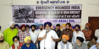 Punjabis will continue to fight atrocities inflicted by Gandhi family including Emergency – Sukhbir Badal