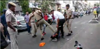 Policemen brutally beat a Sikh man & his son; tension between police, Sikh community in North Delhi