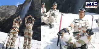 International Yoga Day : Indian army jawans Snow On yoga