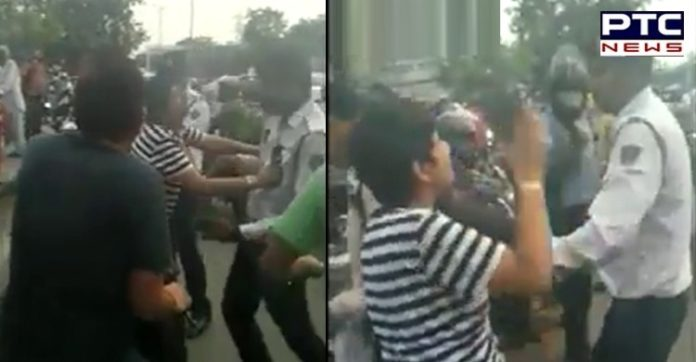 Delhi: Drunk Woman and Man Manhandles Traffic Cops, arrested; watch video