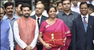 Budget 2019 : Finance Minister Nirmala Sitharaman present Budget 2019