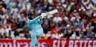 England's jason roy is caught out by australia's pat cummins in birmingham