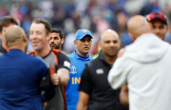 Indian batsman ms dhoni after losing the semi-final match against new zealand