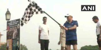 New Delhi: Kargil victory run flagged off from Vijay Chowk