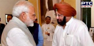 Punjab CM Captain Amarinder Singh meets PM Narendra Modi in Parliament to discuss SYL Canal issue