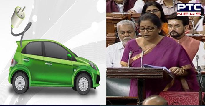 Budget 2019 : electronic vehicles making On 1.5 lakh will be exempt :Nirmala Sitharaman