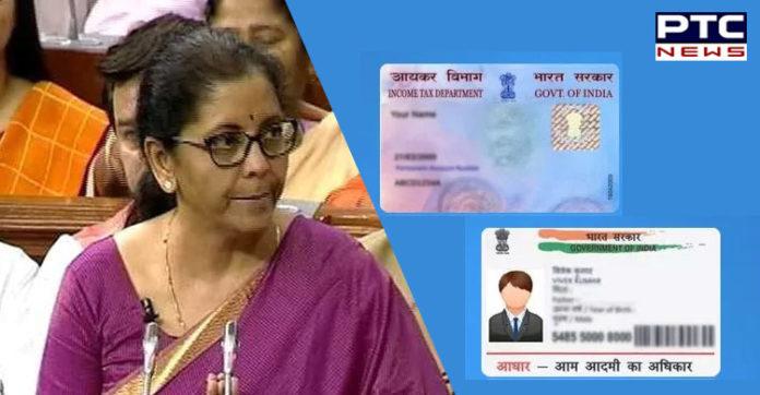 Budget 2019: PAN card not necessary to file returns, Aadhaar will work too: Nirmala Sitharaman, Finance Minister
