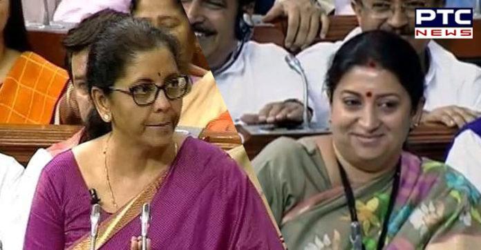 """Budget 2019: """"Nari tu Narayani"""", says Finance Minister Nirmala Sitharaman in Lok Sabha"""