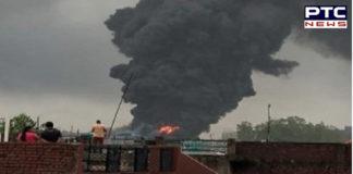 Massive Fire in a PCPL Chemical factory in Derabassi