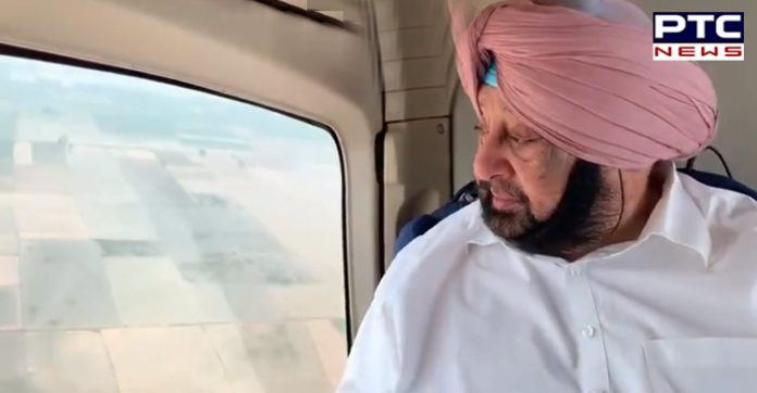 Punjab CM Captain Amarinder Singh conducts aerial survey of flood-affected areas in Patiala and Sangrur