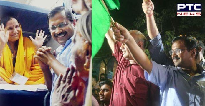 """Delhi CM Arvind Kejriwal, Flags off the First Train Under """"Mukhyamatri Tirtha Yatra"""""""