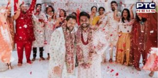 America: Two Indian Men gets married in New Jersey, people congratulates