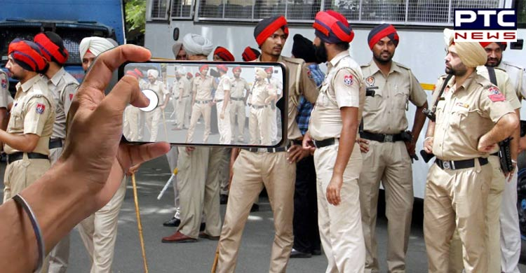 Punjab Police Employees Duty arrival Selfie Official Group on WhatsApp