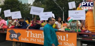 Canada: Indian community held a parade to celebrate India Independence Day 2019 Article 370